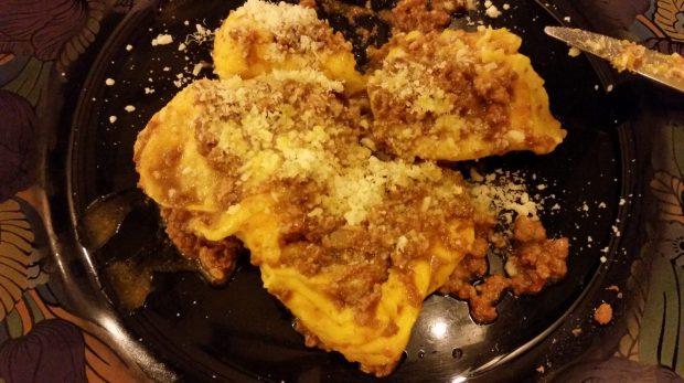Homemade Ravioli al ragù