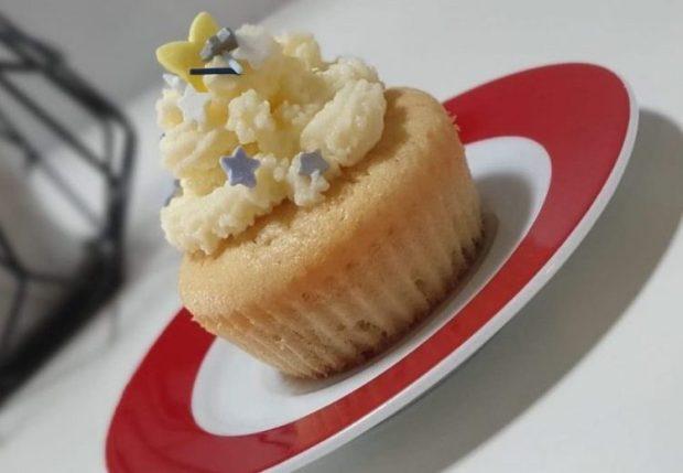 Rezept Zitronen Blaubeer Cupcakes