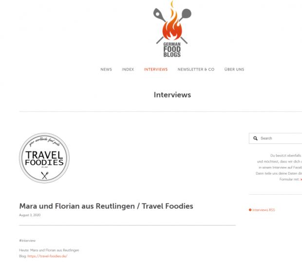 Interview Travelfoodies Germanfoodblogs
