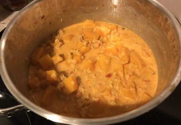 Rezept Kürbis Linsen Curry