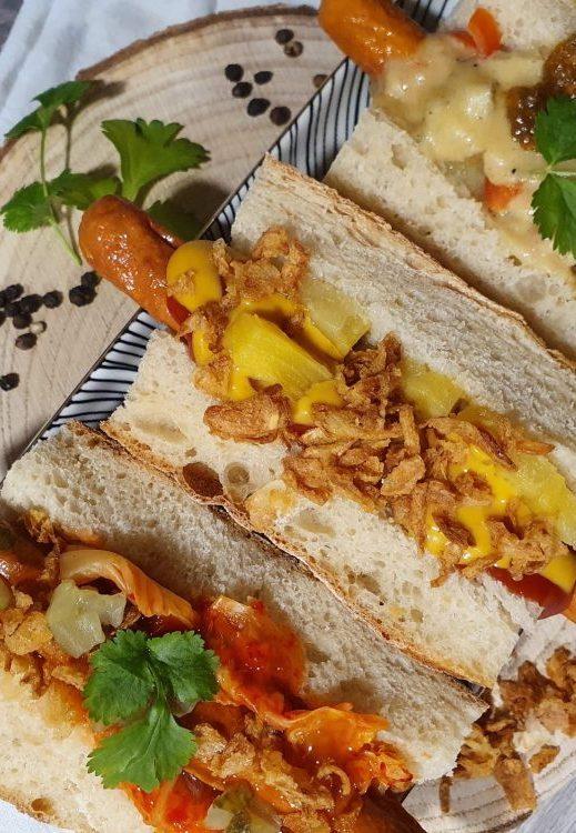 Rezept dreierlei Hot Dogs