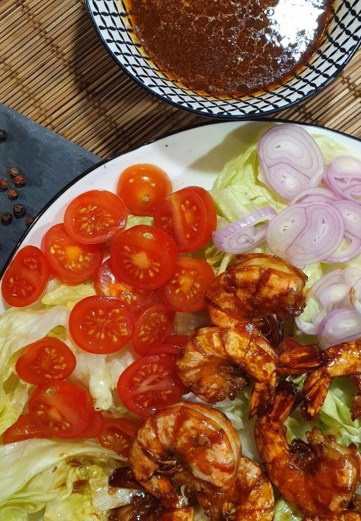 Rezept Garnelen Lok Lak Style