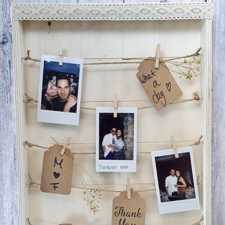 Gästebuch Polaroid Fotos Holz Hochzeit
