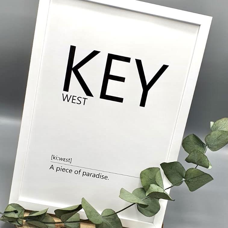 Poster Key West schwarz weiß